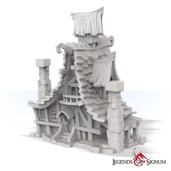 high quality resin building magic school