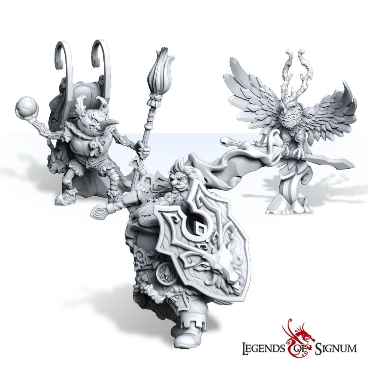 Christmas set high quality resin fantasy miniatures