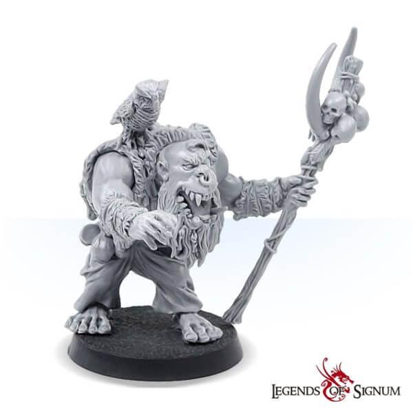 The orc shaman high quality fantasy miniature