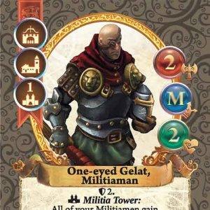 One-eyed Gelat, Militiaman